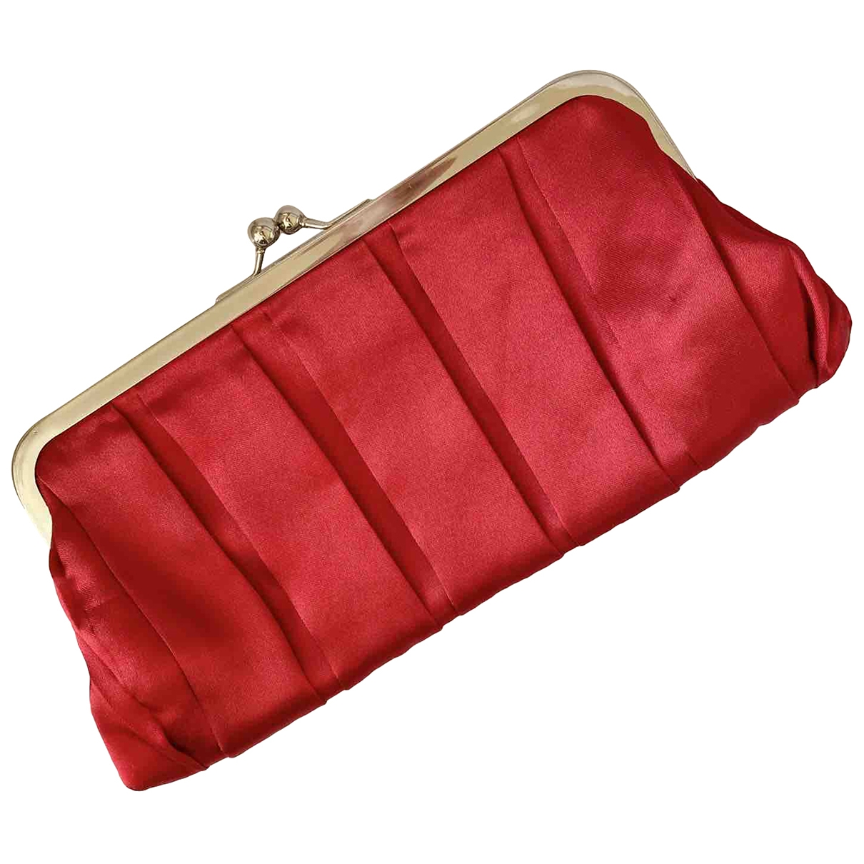 Carolina Herrera \N Clutch in  Rot Polyester