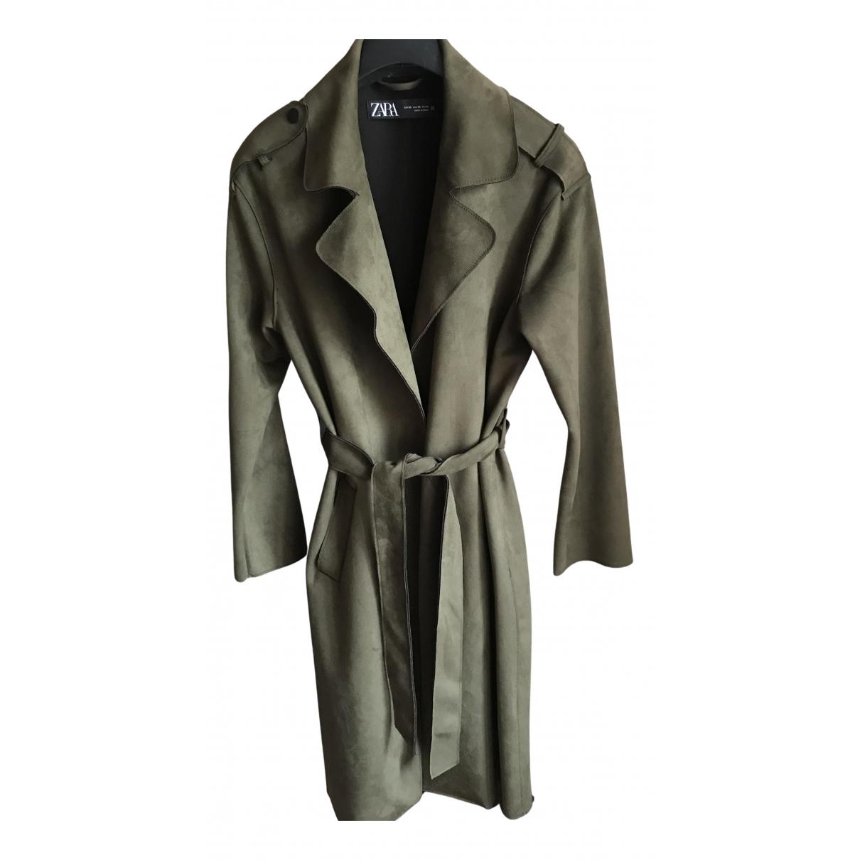 Zara N Khaki Trench coat for Women XS International