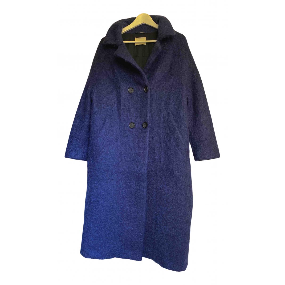 Momoni - Manteau   pour femme en laine - bleu