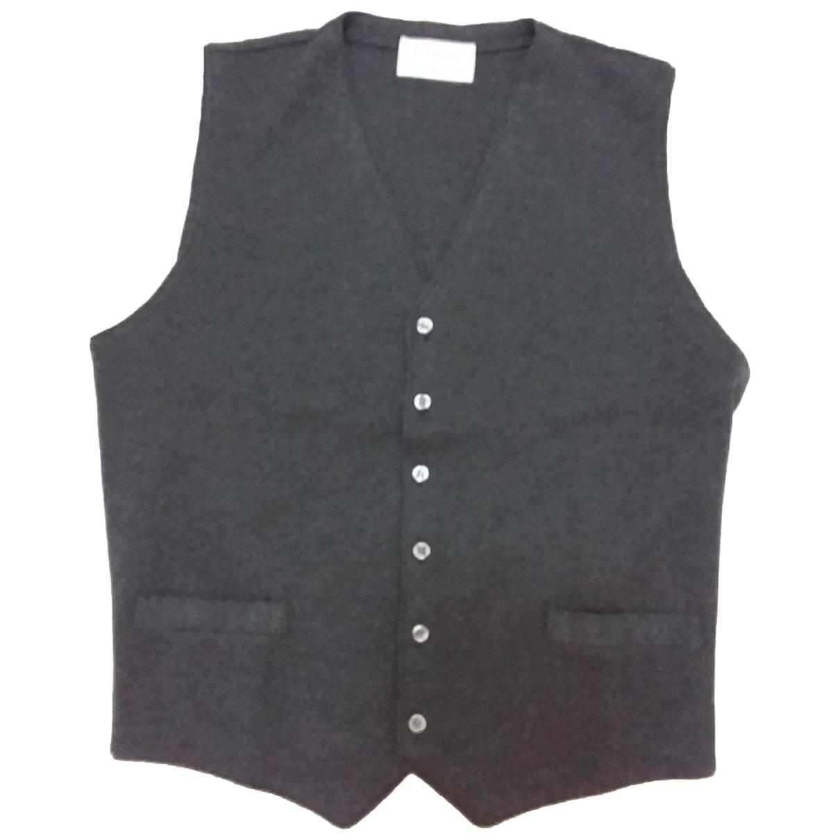 Non Signe / Unsigned \N Pullover.Westen.Sweatshirts  in  Grau Wolle