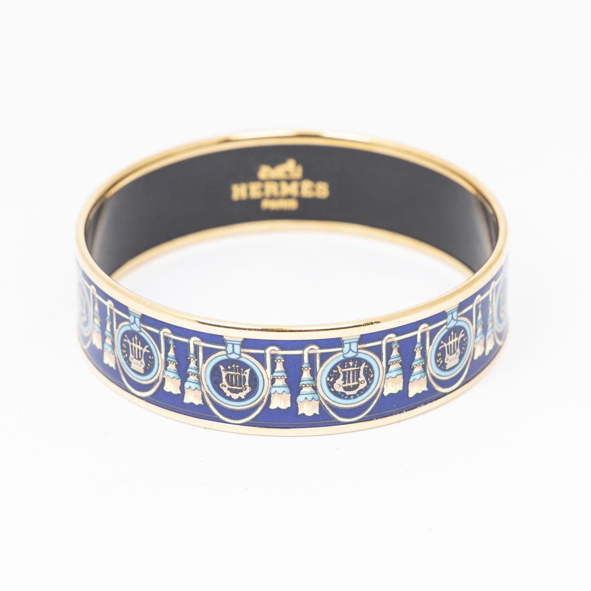 Hermes - Bracelet   pour femme en metal - bleu