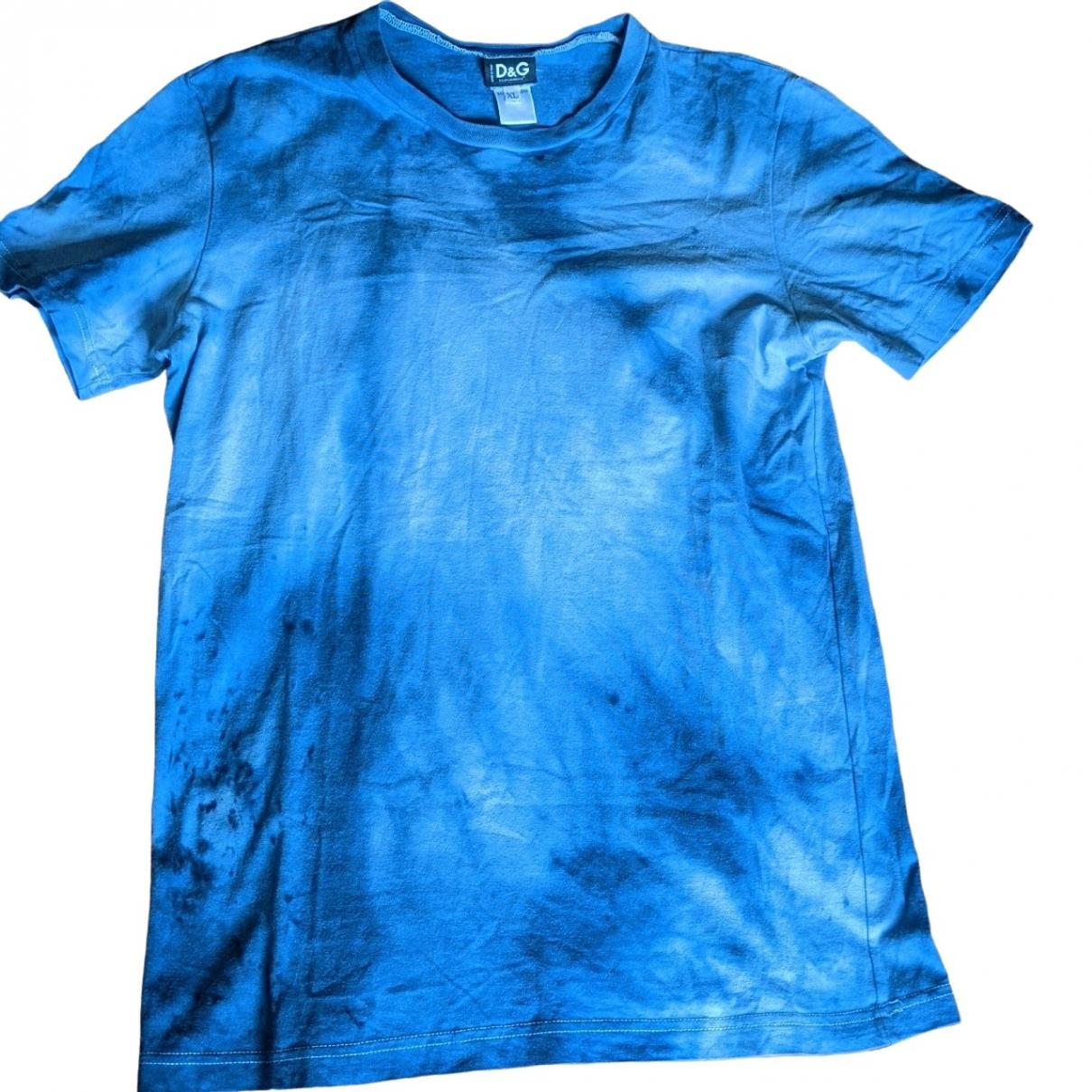 D&g - Tee shirts   pour homme en coton - bleu