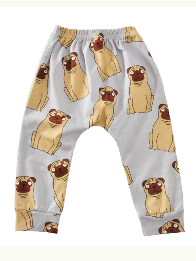 Ericdress Unisex Funny Cartoon Print Comfortable Baby Boys And Girls Pant
