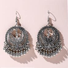 Hollow Out Tassel Drop Earrings