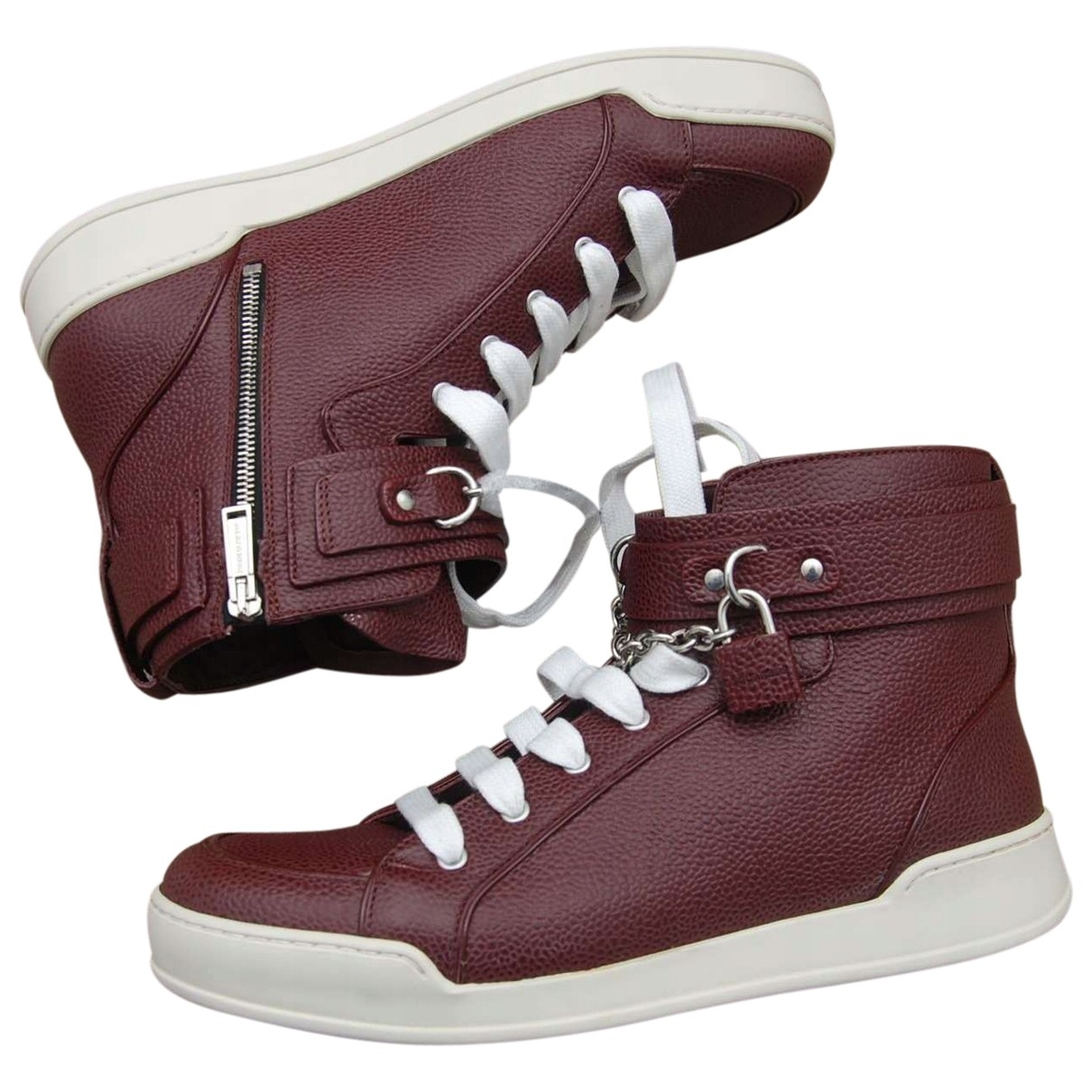 Dsquared2 \N Burgundy Leather Trainers for Men 45 EU