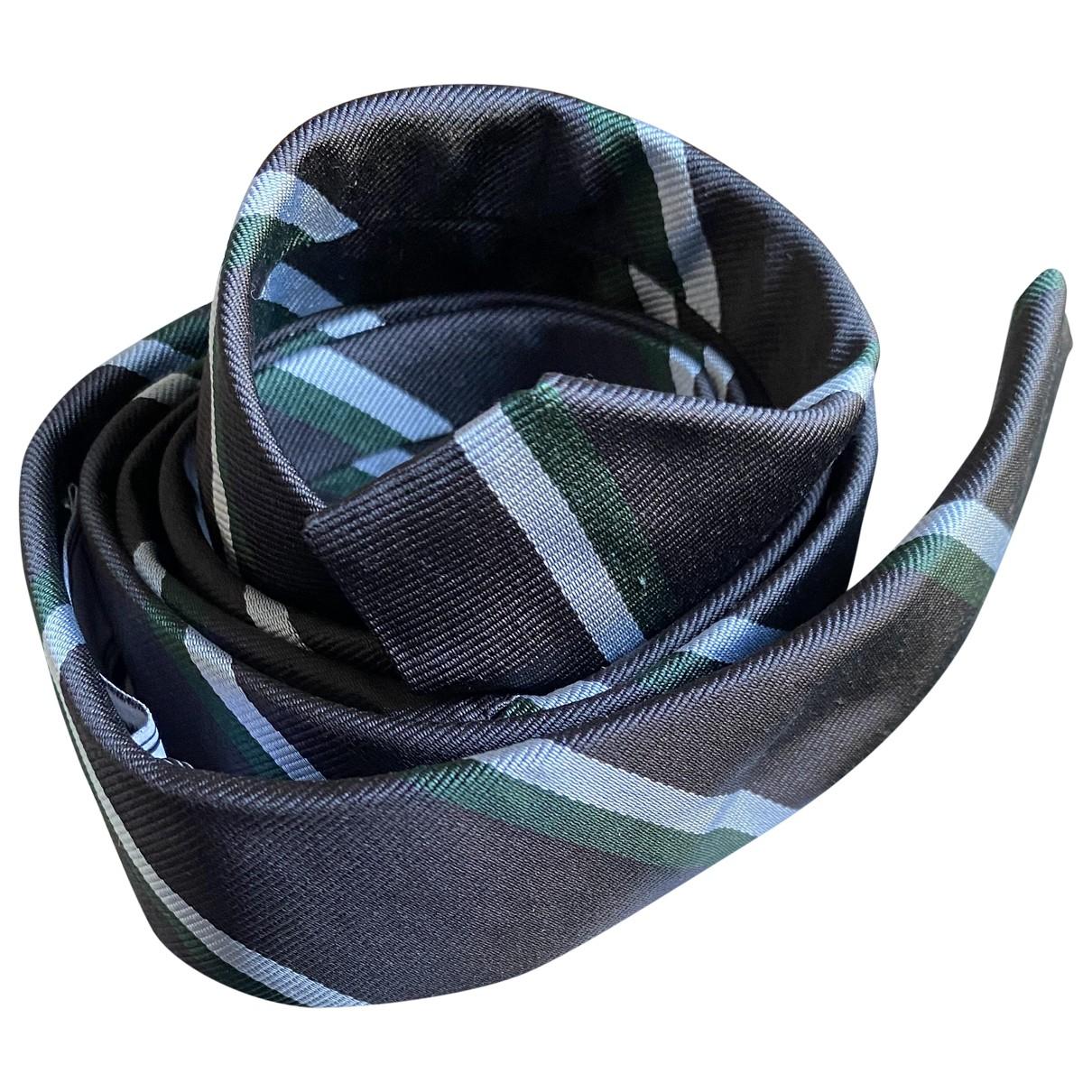 Ami N Black Silk Ties for Men N