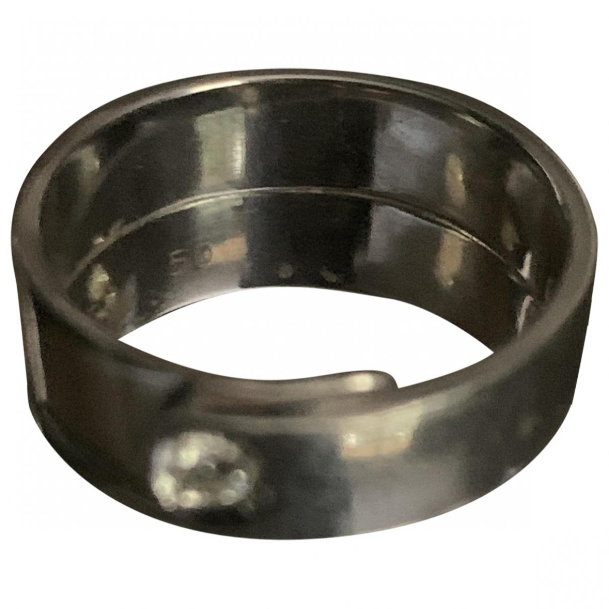 Dinh Van Double Sens Ring in  Silber Weissgold