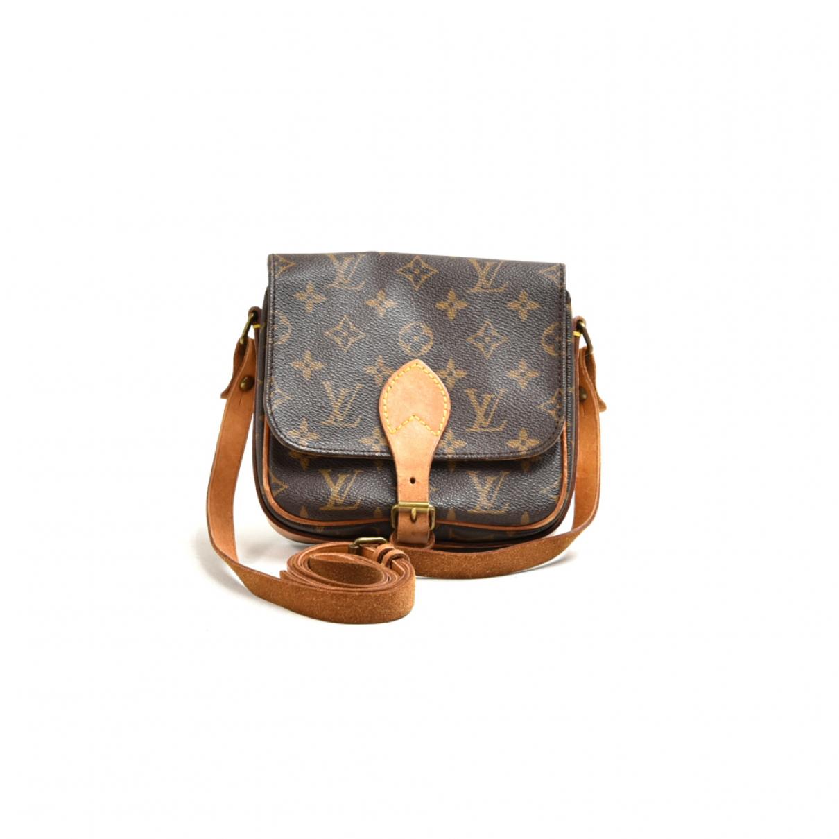 Louis Vuitton - Sac a main Cartouchiere pour femme en toile - marron
