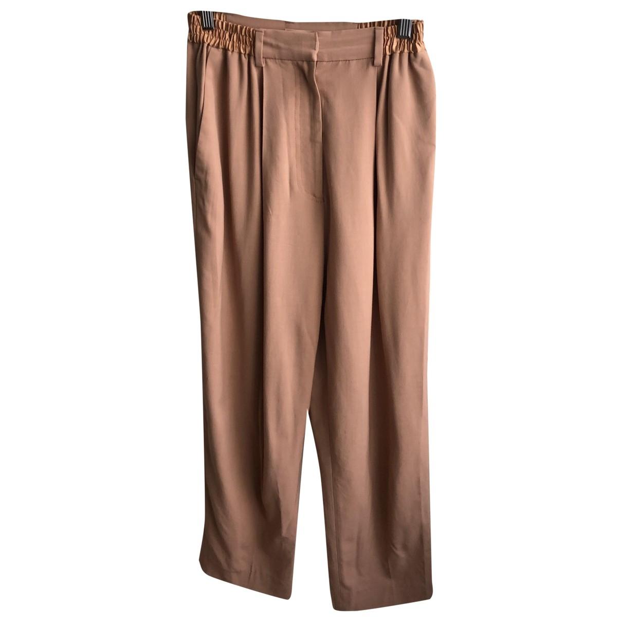 Acne Studios \N Beige Wool Trousers for Women 34 FR