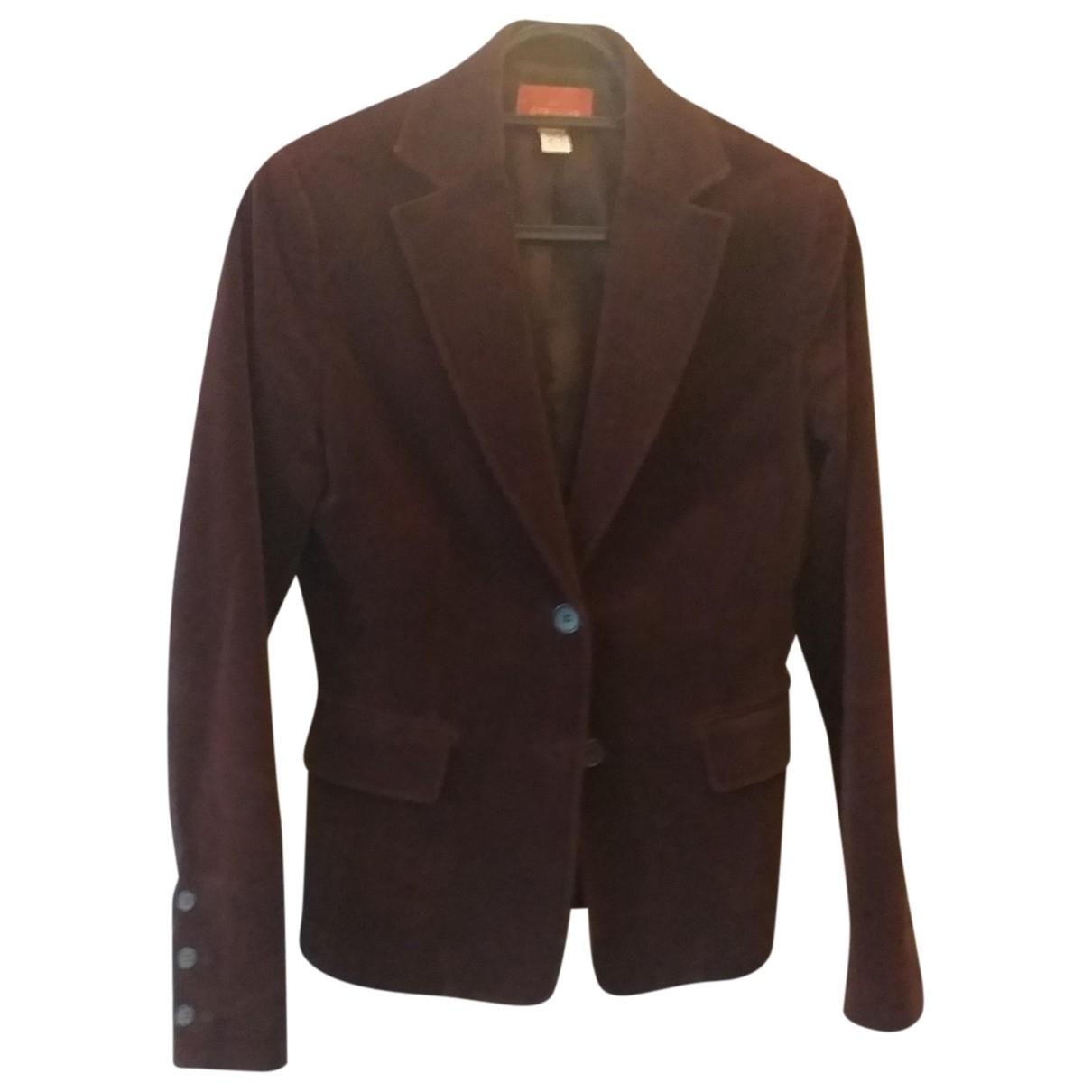 Cyrillus \N Brown Velvet jacket for Women 36 FR