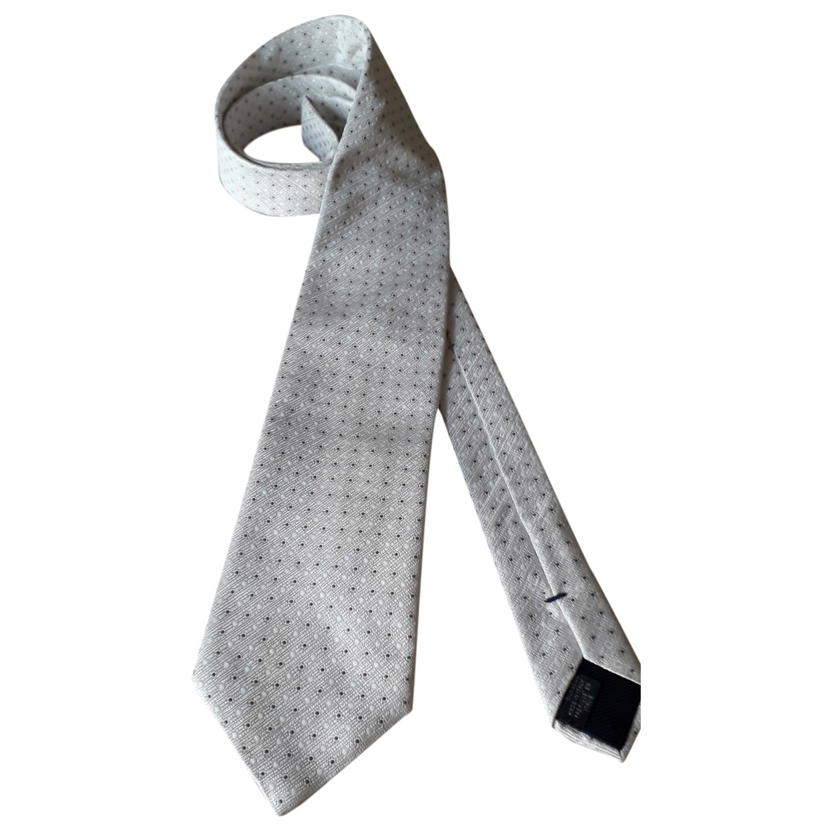 Canali - Cravates   pour homme en soie - blanc