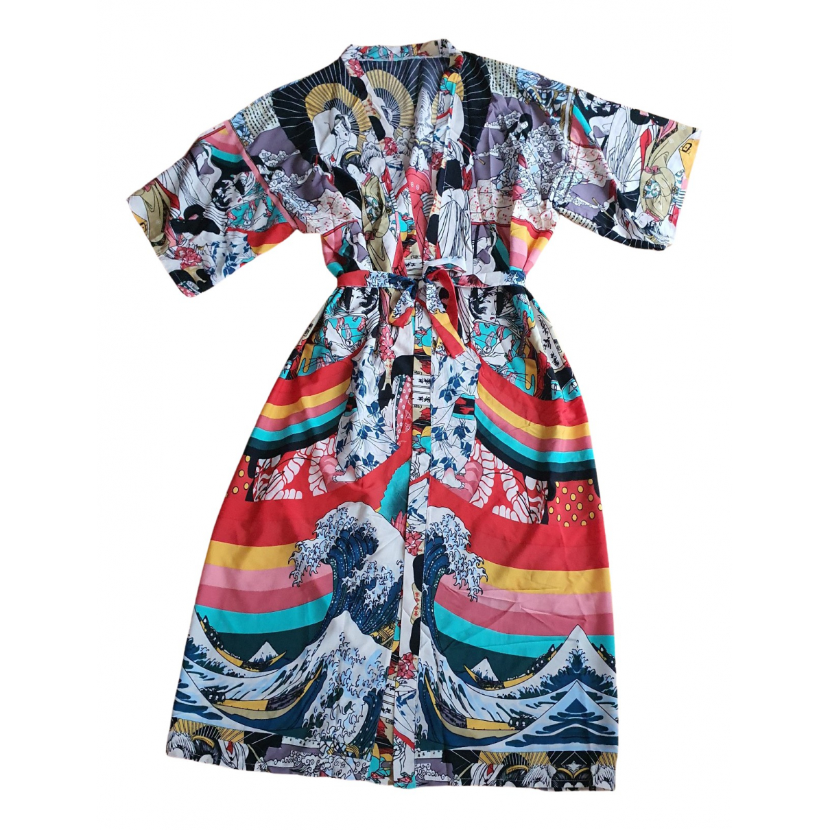 Non Signe / Unsigned \N Maentel in  Bunt Polyester
