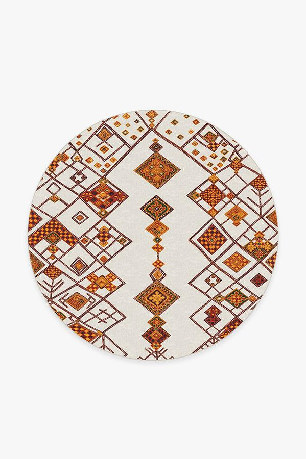 Washable Rug Cover | Farah Autumn Rug | Stain-Resistant | Ruggable | 6' Round
