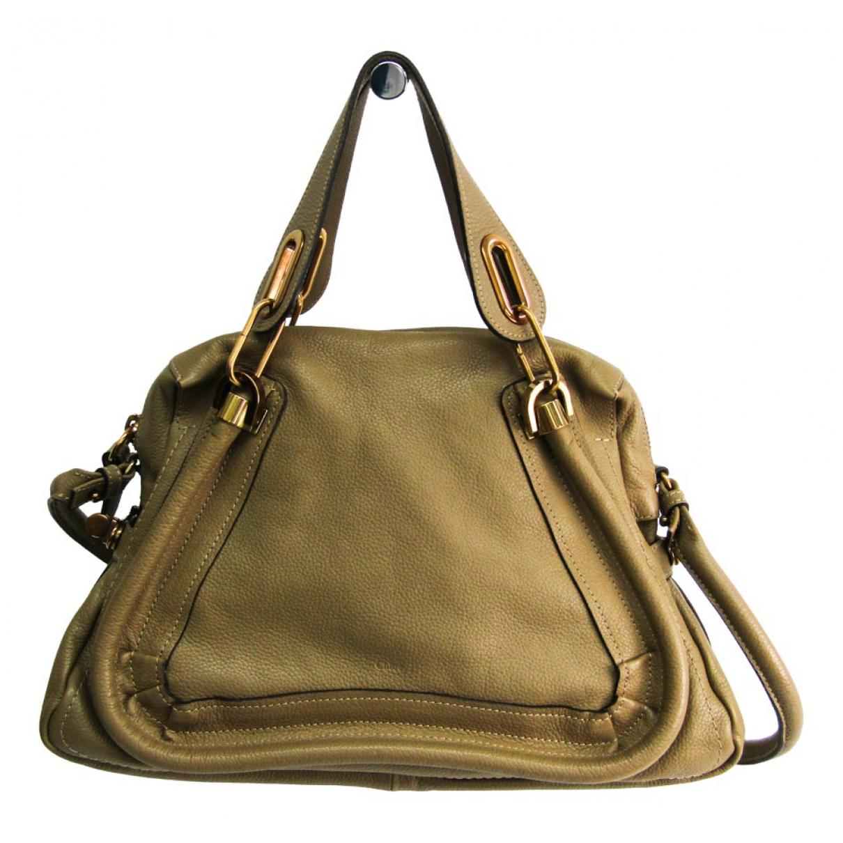 Chloe Paraty Handtasche in  Beige Leder