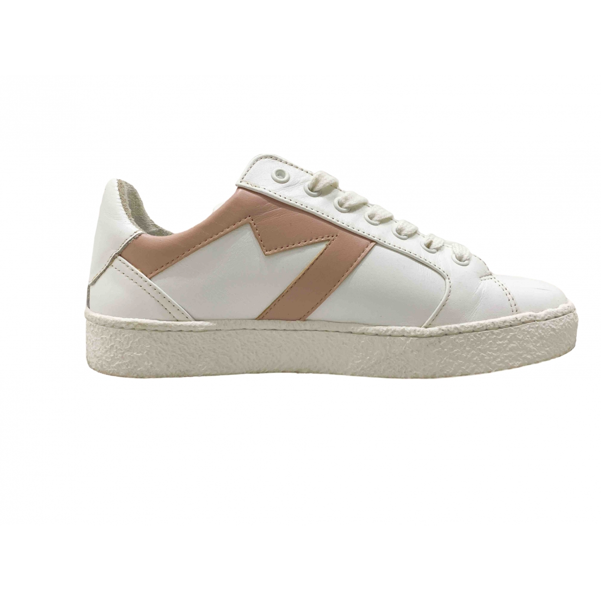 Maje \N Sneakers in  Weiss Leder