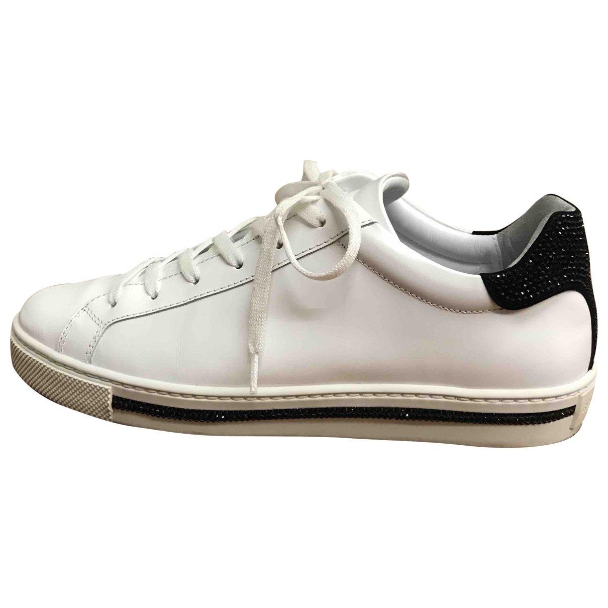 Rene Caovilla - Baskets   pour femme en cuir - blanc