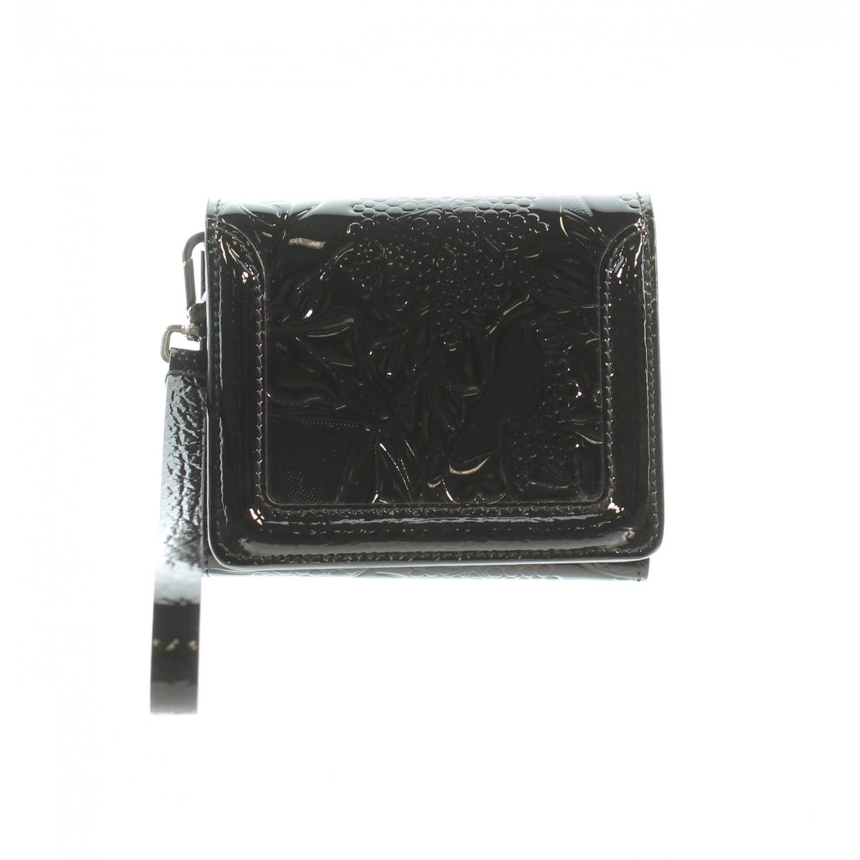 Alexander Mcqueen - Portefeuille   pour femme en cuir verni - noir