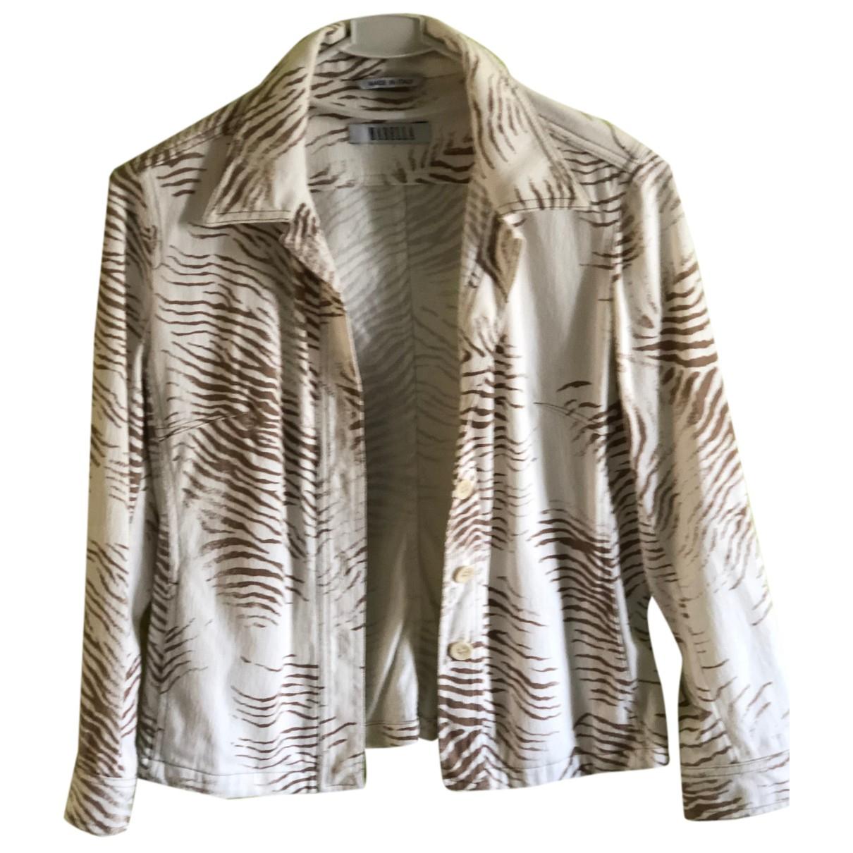 Marella N Beige Cotton jacket for Women 42 FR