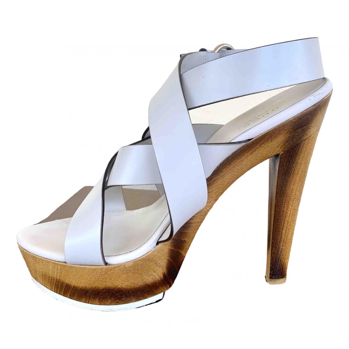 Gucci - Sandales   pour femme en cuir - blanc
