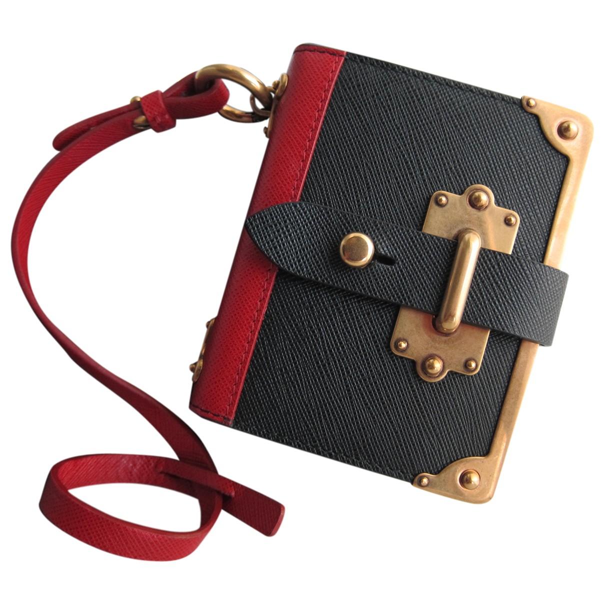 Prada \N Taschenschmuck in  Schwarz Leder