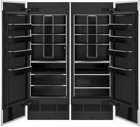 Side By Side Column Refrigerator & Freezer Set with JBRFL30IGX  30