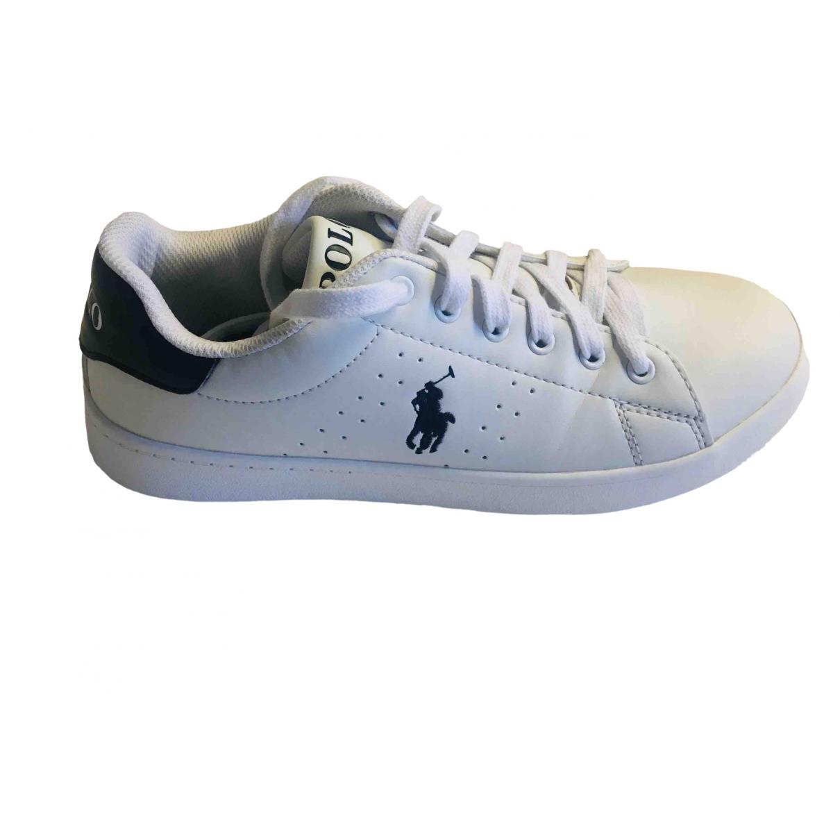 Polo Ralph Lauren \N Sneakers in  Weiss Synthetik