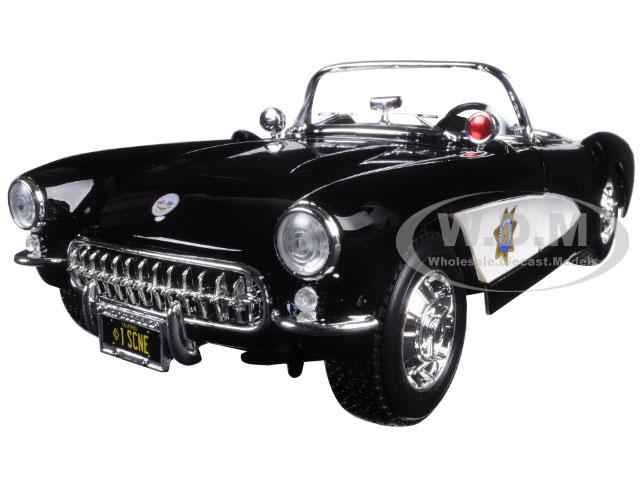 1957 Chevrolet Corvette Highway Patrol 1/18 Diecast Model Car by Maisto