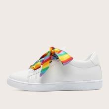 Rainbow Ribbon Shoelace Skate Shoes
