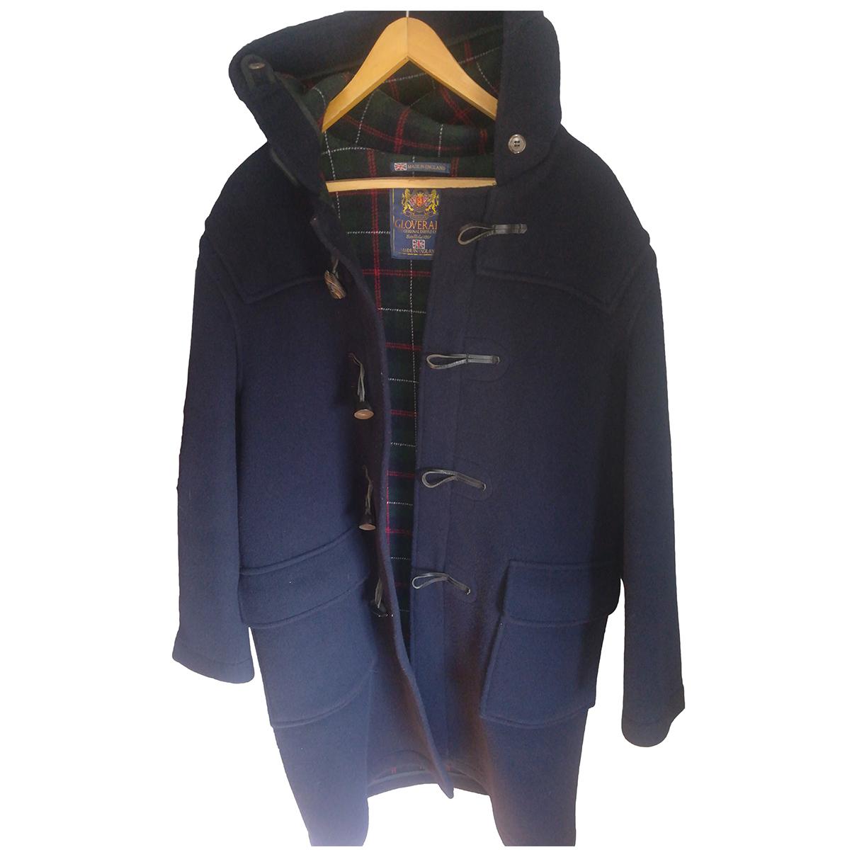 Gloverall - Manteau   pour homme en laine - marine