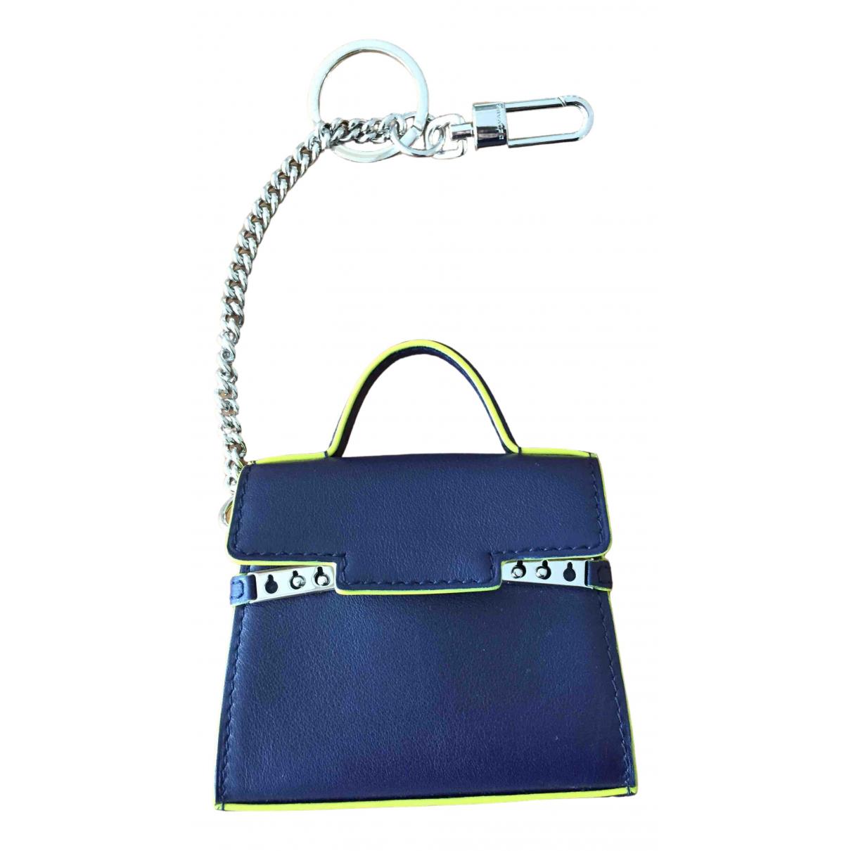 Delvaux \N Taschenschmuck in  Blau Leder