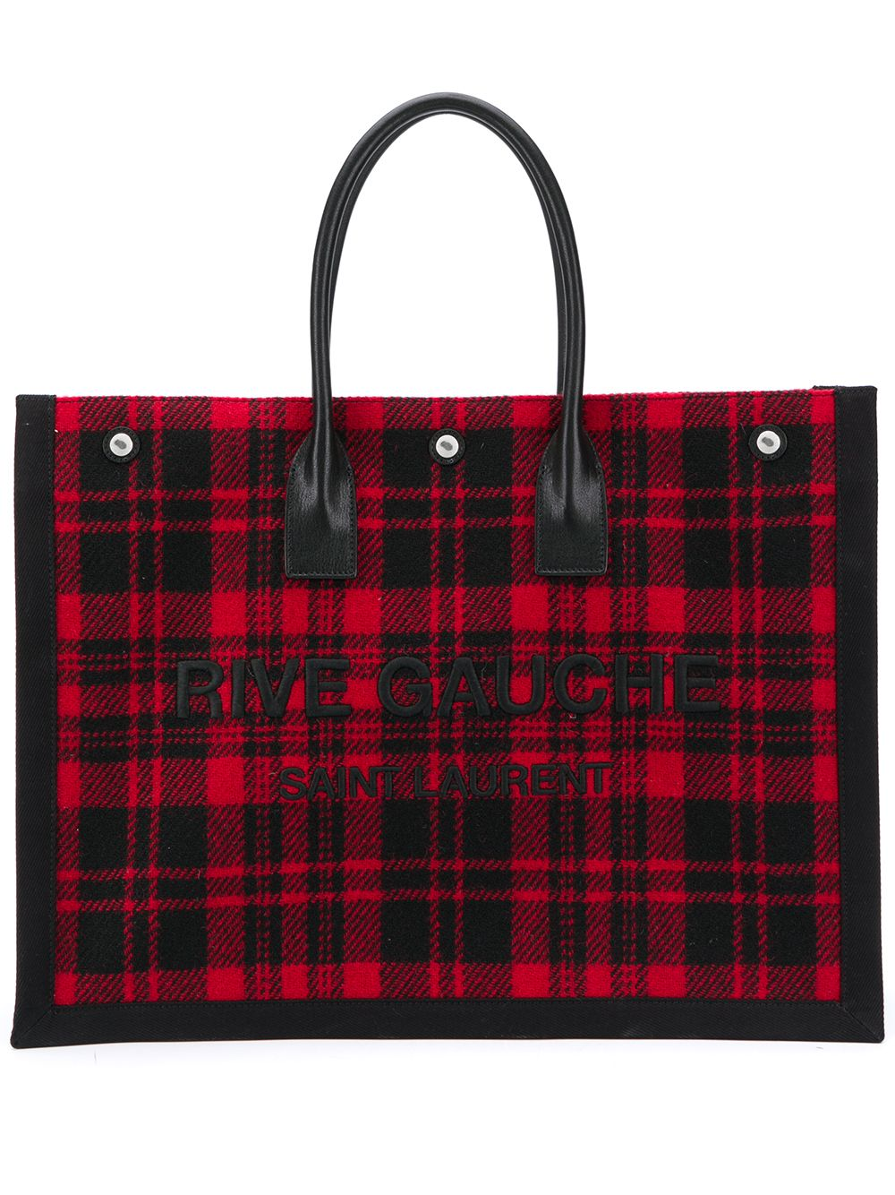Rive Gauche Linen And Leather Shopping Bag