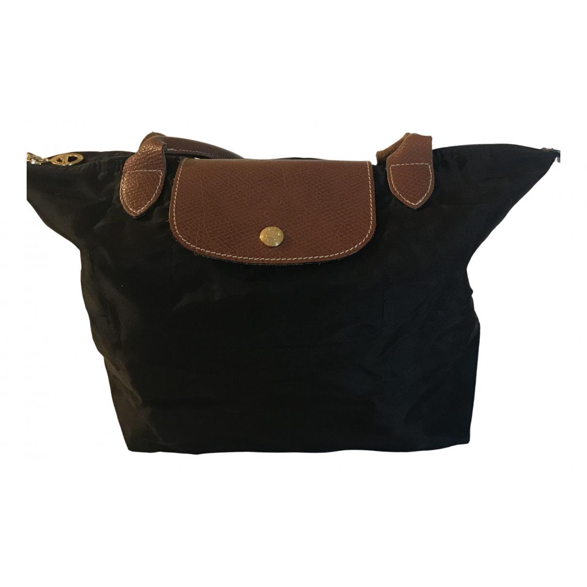 Longchamp Pliage  Handtasche in  Schwarz Synthetik