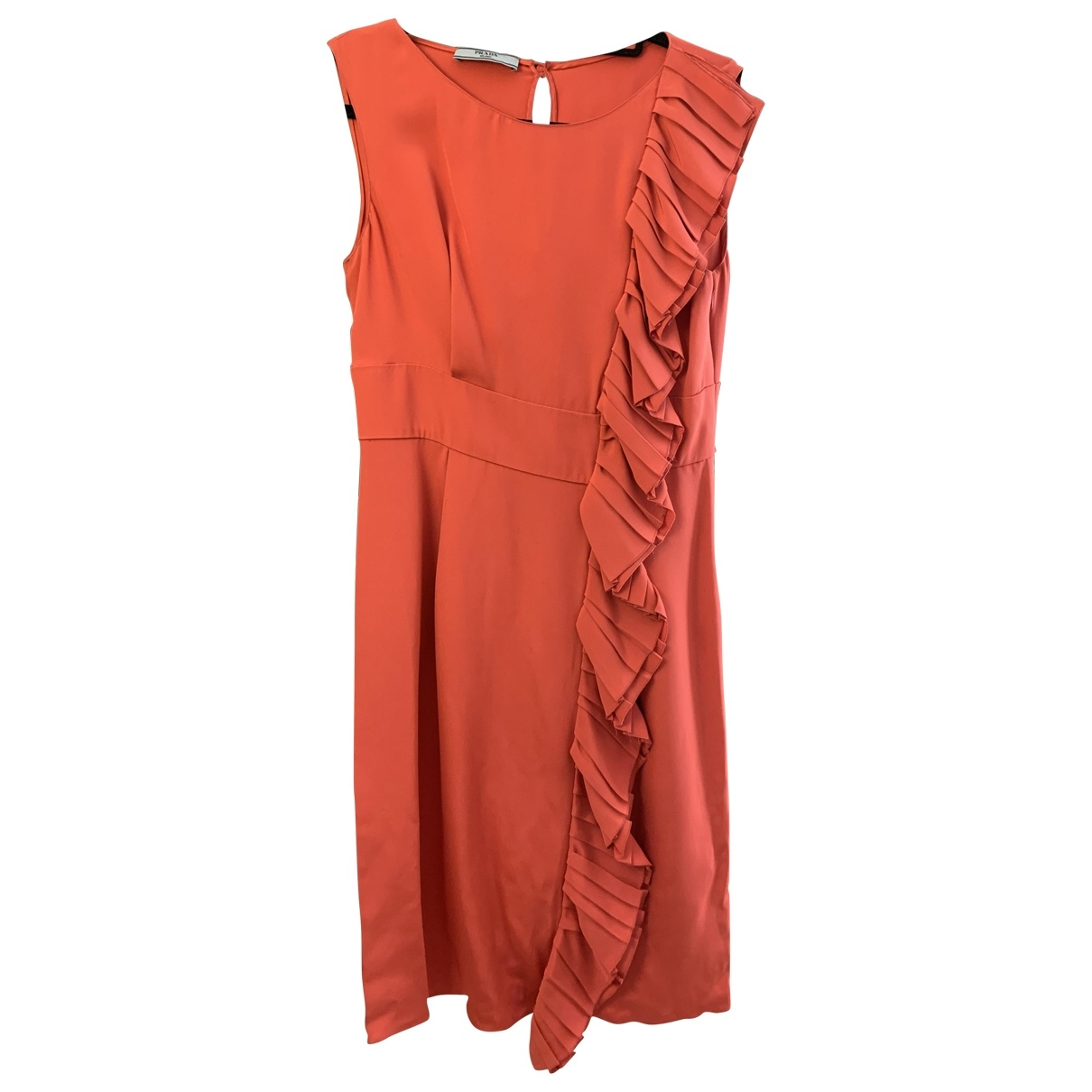 Prada \N Pink Silk dress for Women 44 IT