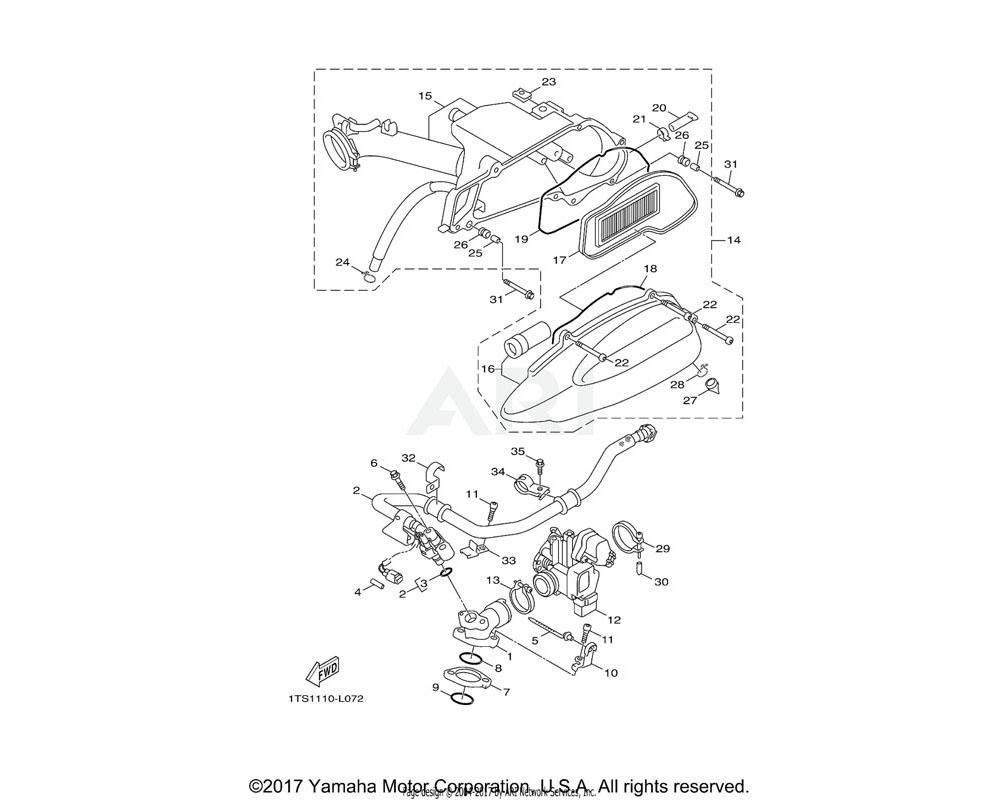 Yamaha OEM 3P3-E3750-00-00 THROTTLE BODY ASSY