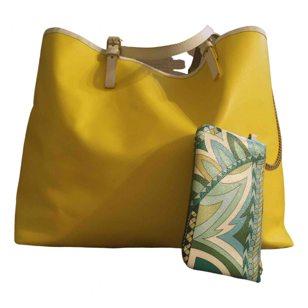 Emilio Pucci \N Handtasche in  Gelb Leder