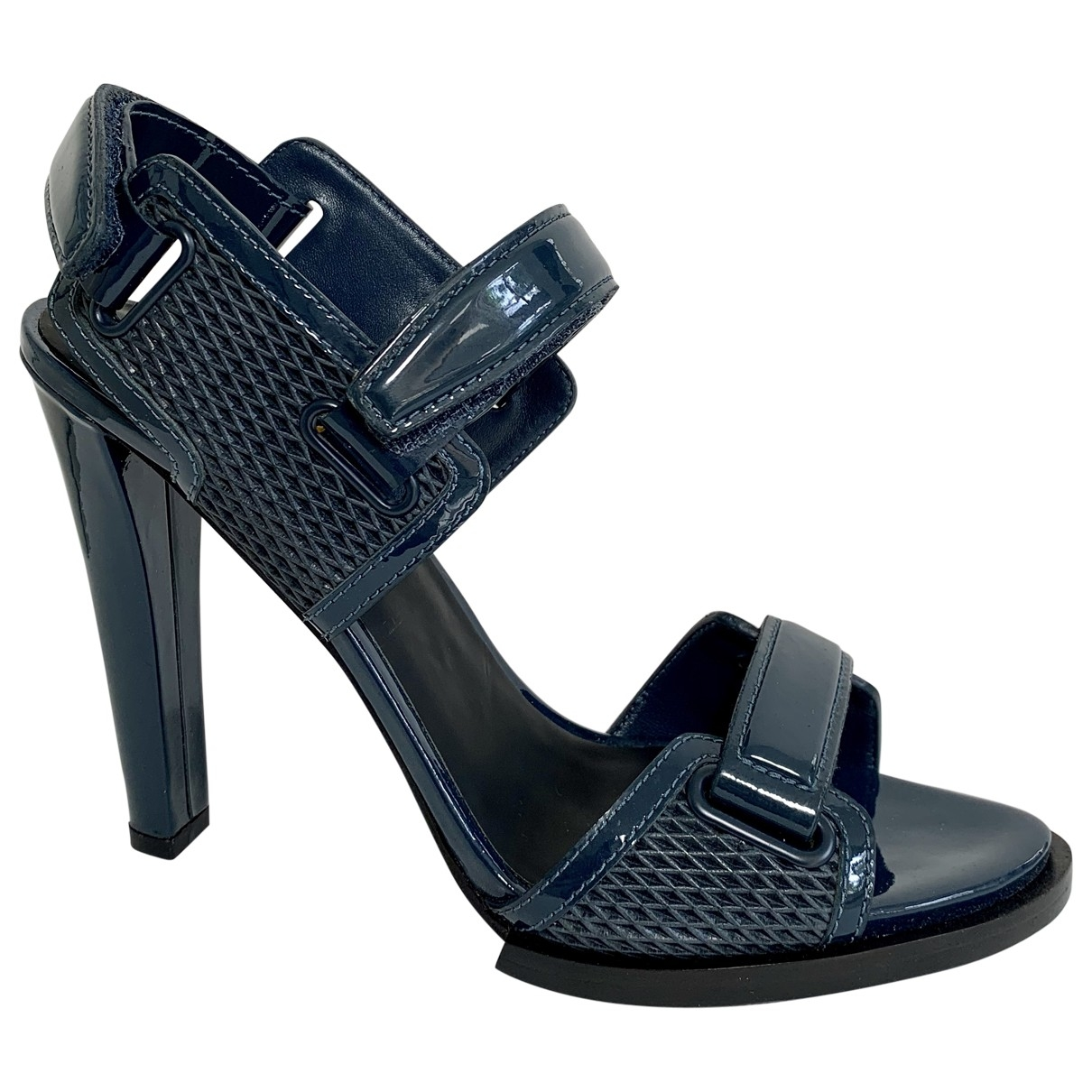 Alexander Wang \N Blue Patent leather Sandals for Women 38.5 EU