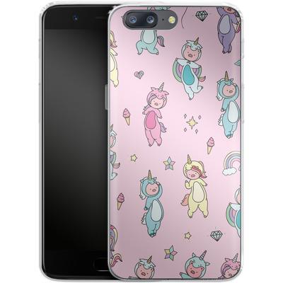 OnePlus 5 Silikon Handyhuelle - Piggy Unicorns von Chan-chan