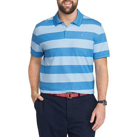 IZOD Big and Tall Mens Cooling Short Sleeve Polo Shirt, 4x-large , Blue