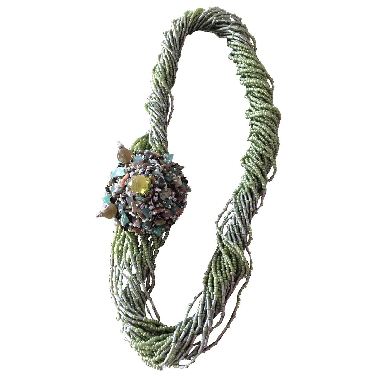 Maliparmi - Collier   pour femme en perles - vert