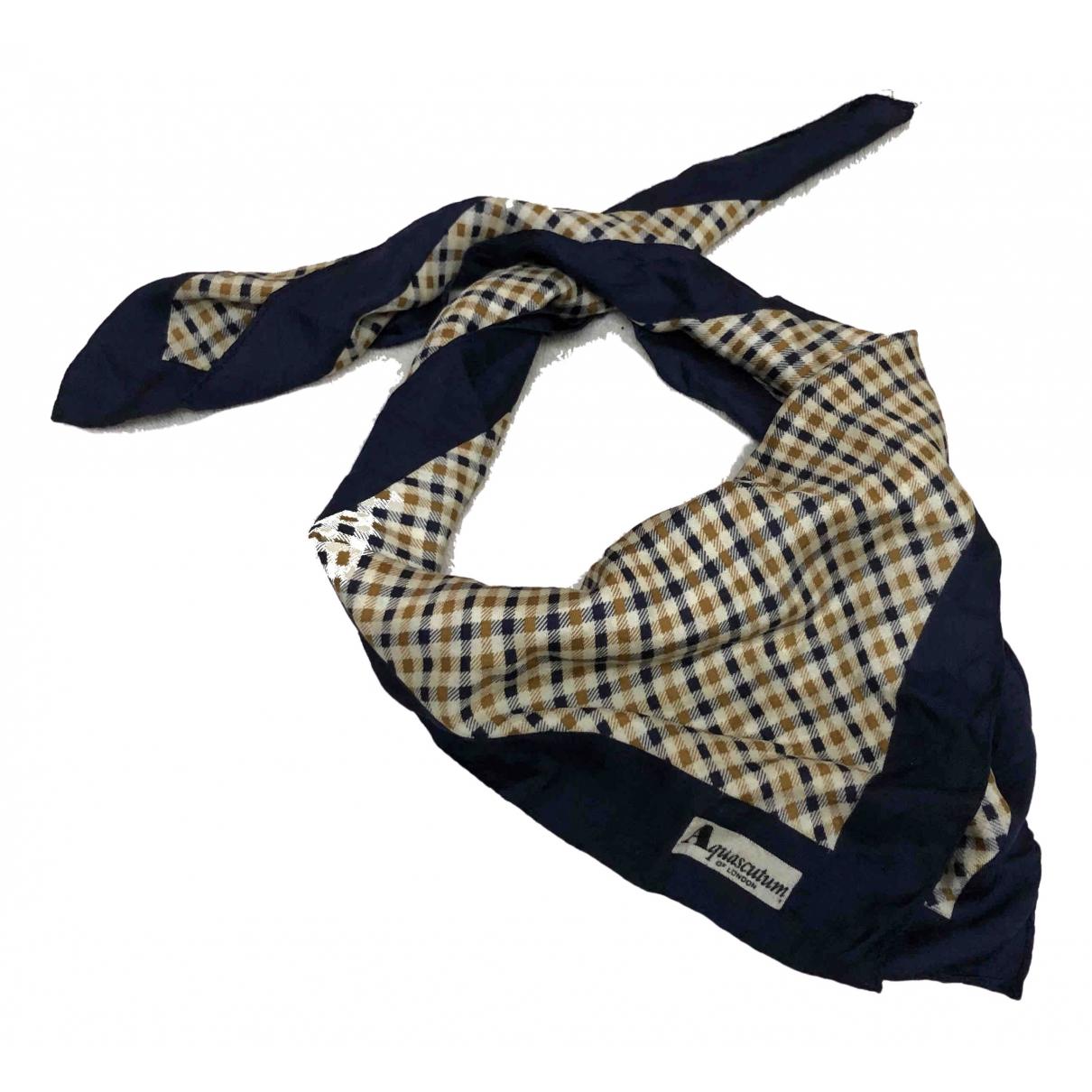 Aquascutum \N Metallic Silk Silk handkerchief for Women \N