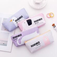 1pc Cartoon Graphic Pencil Bag