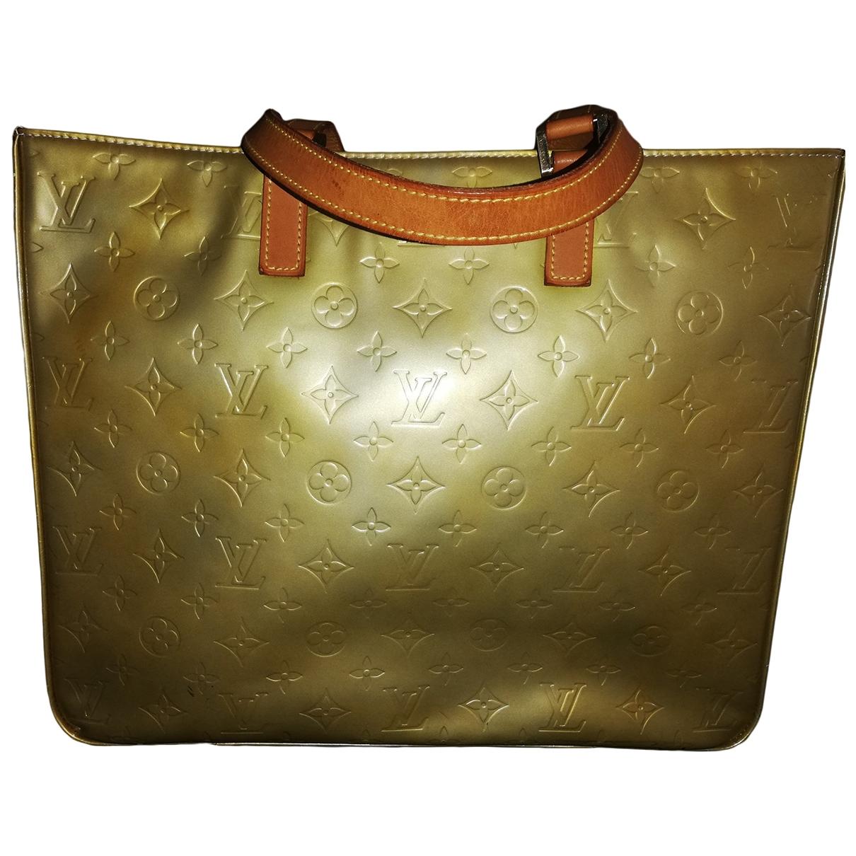 Louis Vuitton Columbus Gold Patent leather handbag for Women \N