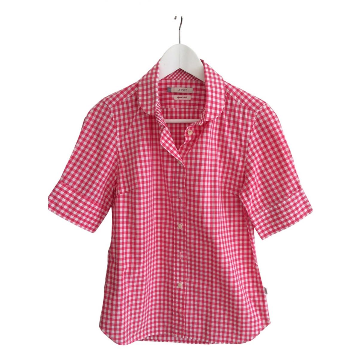 Aigle - Top   pour femme en coton - rouge
