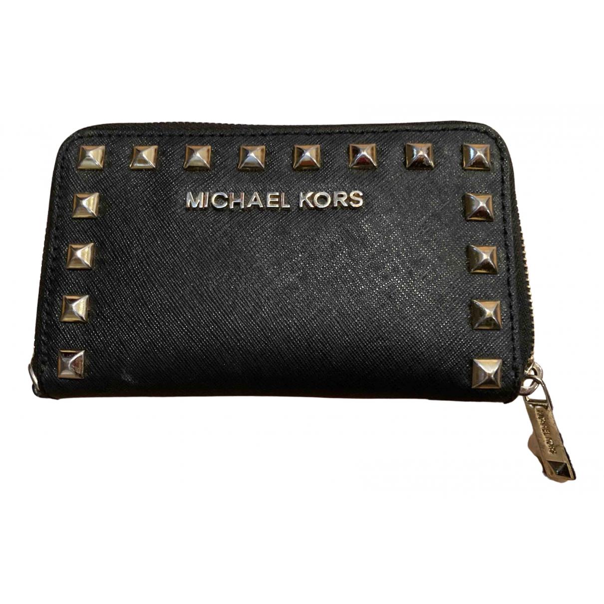 Michael Kors N Black Leather wallet for Women N