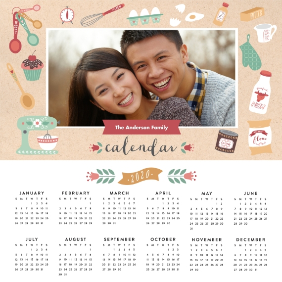 Calendar 12x12 Metal Panels, Home Décor -Seasonally Sweet