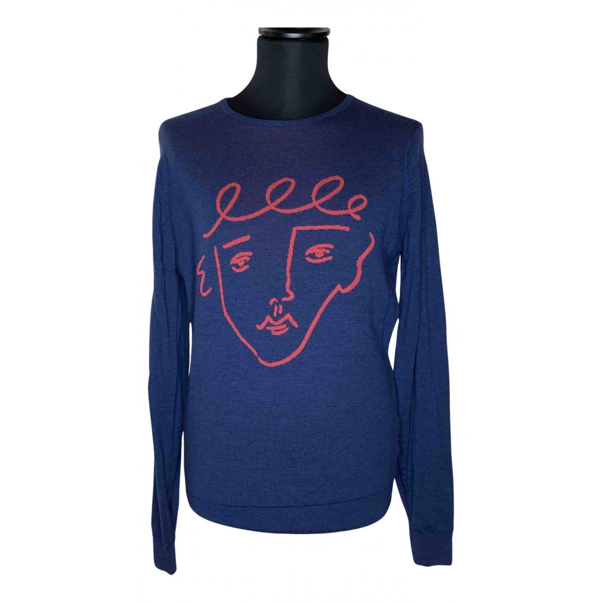 John Smedley \N Pullover.Westen.Sweatshirts  in  Blau Wolle