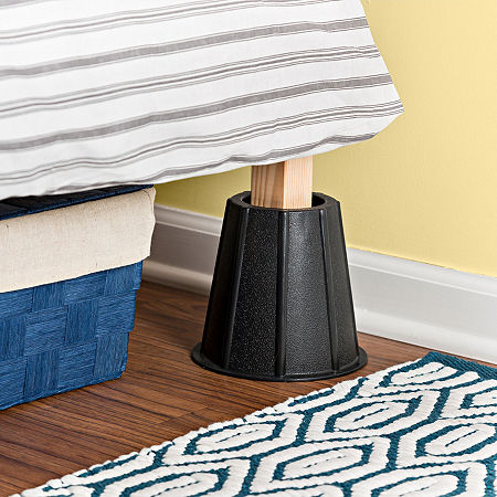 Honey-Can-Do 4-pc. Bed Risers, One Size , Black