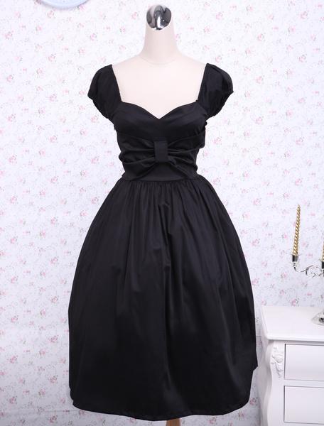 Milanoo Cotton Sweetheart Empire Waist Cotton Classic Lolita Dress