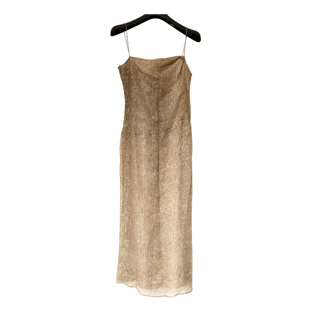 Giorgio Armani - Robe   pour femme en soie - dore