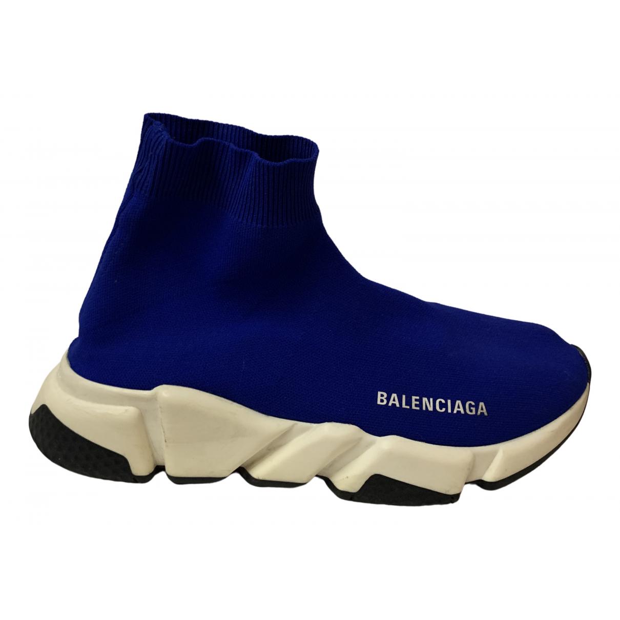 Balenciaga - Baskets Speed pour femme en toile - bleu